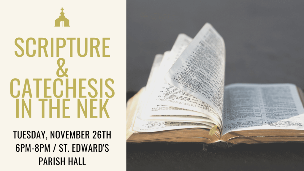 Scripture and Catechesis in the NEK Social Banner